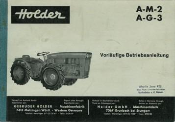Holder AM2 AG3 Betriebsanleitung