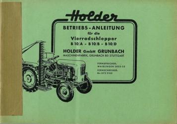 Holder B10 Betriebsanleitung