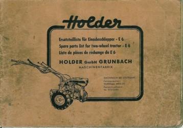 Holder E6 Ersatzteilliste