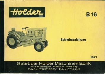Holder B16 Betriebsanleitung
