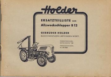 Holder B12 Ersatzteilliste