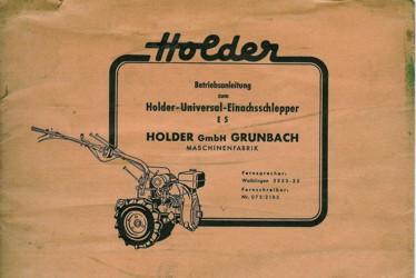 Holder E5 Betriebsanleitung