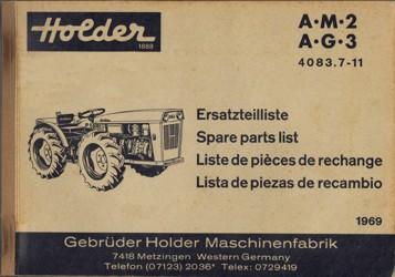 Holder AM2 AG3 Ersatzteilliste