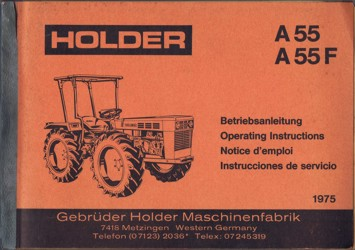 Holder A55 A55F Betriebsanleitung