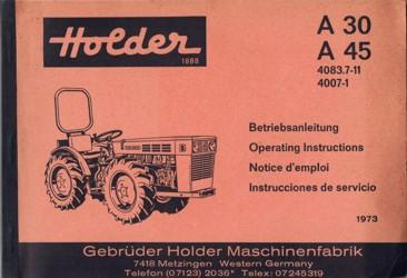 Holder A30 A45 Betriebsanleitung