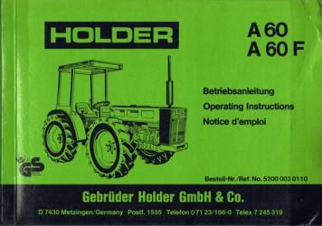 Holder A60 A60F Betriebsanleitung