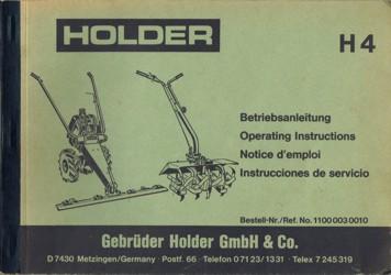 Holder H4 Betriebsanleitung