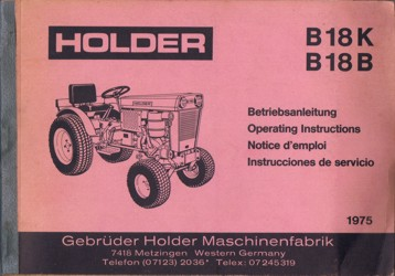 Holder B18K B18B Betriebsanleitung