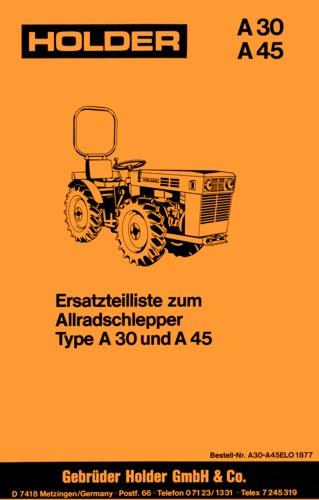 Holder A30 A45 Ersatzteilliste