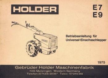 Holder E7 E9 Betriebsanleitung