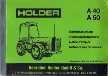 Holder A40 A50 Betriebsanleitung