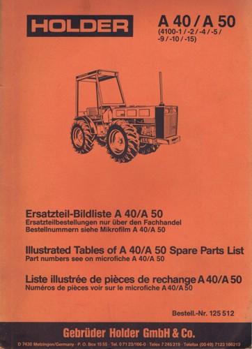 Holder A40 A50 Ersatzteilbildliste