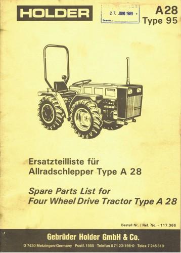 Holder A28 Ersatzteilliste