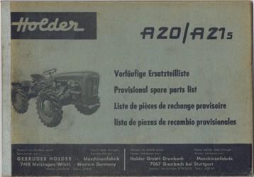 Holder A20 A21S Ersatzteilliste