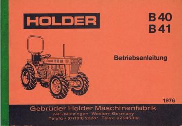 Holder B40 B41 Betriebsanleitung