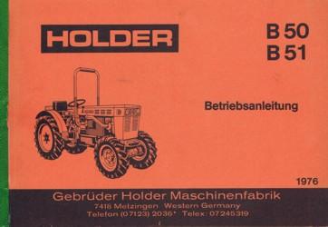 Holder B50 B51 Betriebsanleitung