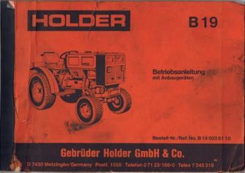 Holder B19 Betriebsanleitung