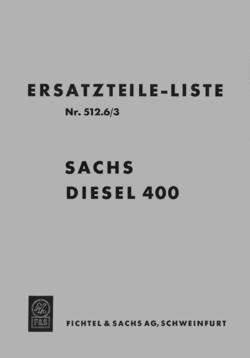Sachs Diesel 400 Ersatzteilliste