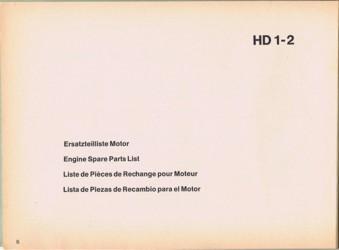 Holder HD1 Ersatzteilliste