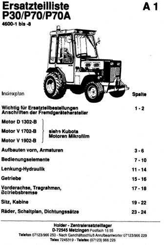 Holder P30 P70 P70A Ersatzteilliste
