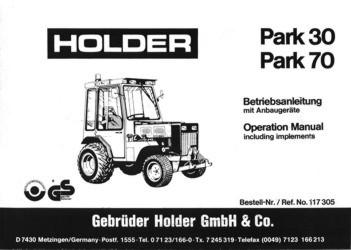 Holder P30 P70 Betriebsanleitung