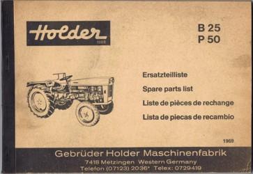 Holder B25 P50 Ersatzteilliste