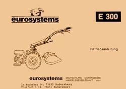 Holder E300 Betriebsanleitung