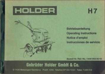 Holder H7 Betriebsanleitung