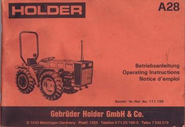 Holder A28 Betriebsanleitung