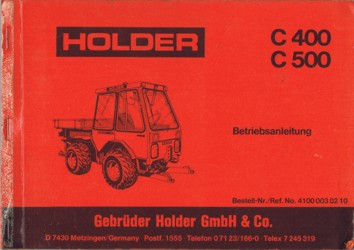 Holder C400 C500 Betriebsanleitung