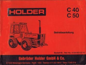 Holder C40 C50 Betriebsanleitung