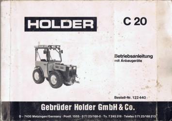 Holder C20 Betriebsanleitung