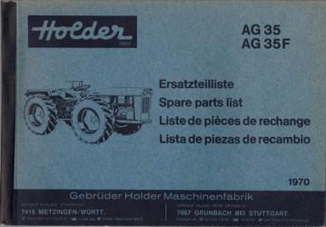 Holder AG35 (F) Ersatzteilliste