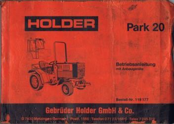 Holder P20 Betriebsanleitung