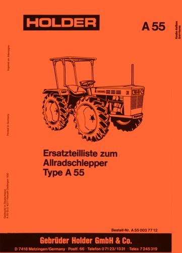 Holder A55 Ersatzteilliste