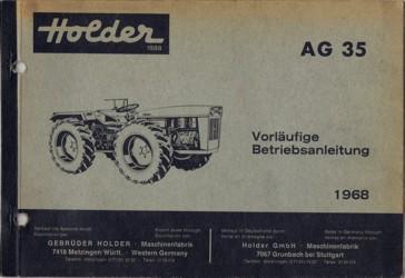 Holder AG35 Betriebsanleitung