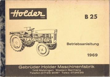 Holder B25 Betriebsanleitung