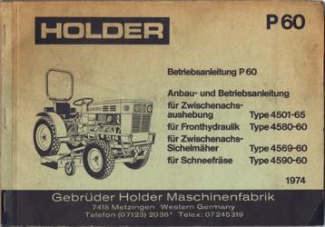 Holder P60 Betriebsanleitung