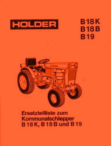 Holder B19 Ersatzteilliste