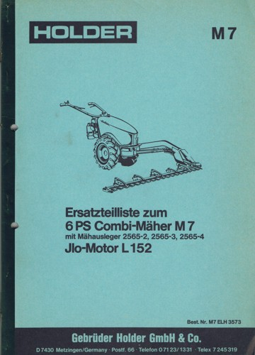 Holder M7 Ersatzteilliste