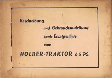 Holder Pionier Gebrauchsanleitung und Ersatzteilliste