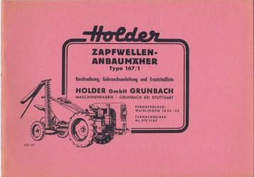 Holder Zapfwellenanbaumäher 167/1