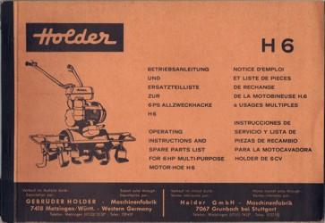 Holder H6 Betriebsanleitung und Ersatzteilliste