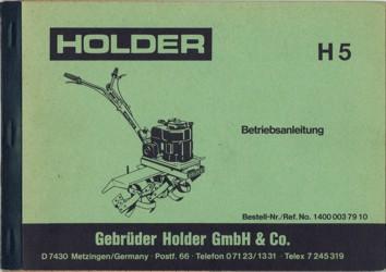 Holder H5 Betriebsanleitung