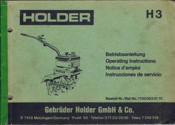 Holder H3 Betriebsanleitung