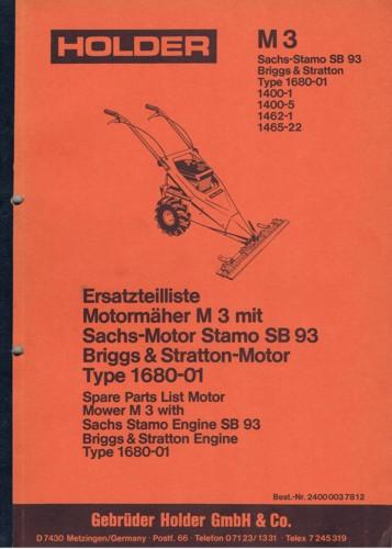 Holder M3 Ersatzteilliste