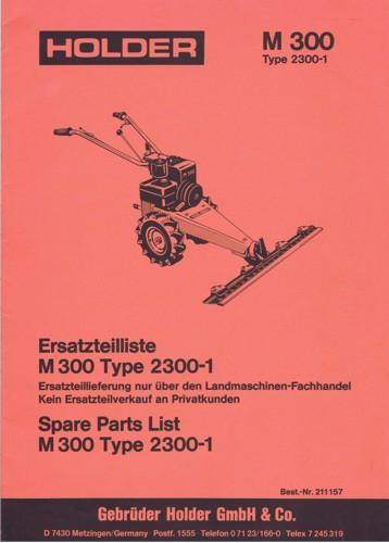 Holder M300 Ersatzteilliste