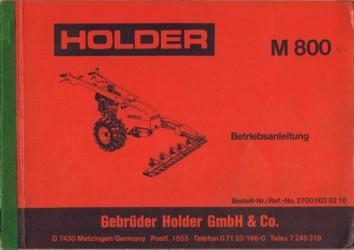 Holder M800 Betriebsanleitung
