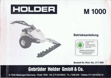 Holder M1000 Betriebsanleitung