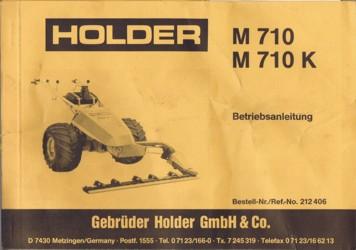 Holder M710 M710K Betriebsanleitung